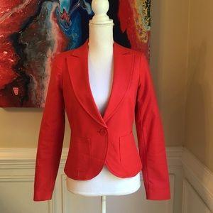 CYNTHIA ROWLEY Red Cotton Blazer EUC Sz.XS